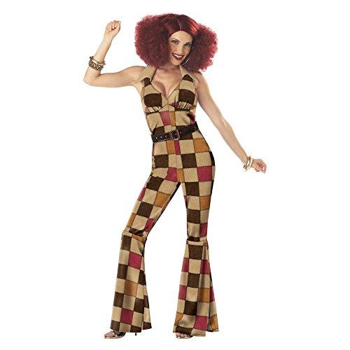 1970 Groovy Disco-Kugel- erwachsene Halloween- Kostüm (mittel (8-10) ) (Halloween Kostüme 1970)