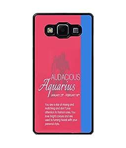 Fuson Premium Audacious Aquarius Metal Printed with Hard Plastic Back Case Cover for Samsung Galaxy E5