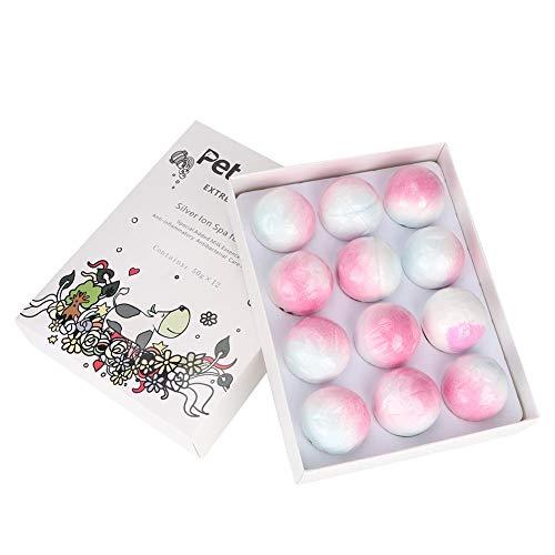 Pssopp 12 Teile/schachtel Katze Hund Bad Bombe Brausebad Ball Spa Carbonate Silber Ionen Antibakterielle Bade Versorgung -