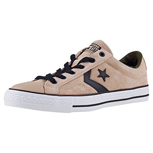 Converse Star Player Ox Vintage Khaki/Black/White, Baskets Mixte Adulte, Beige (Vintage Khaki/Black/White), 42 EU