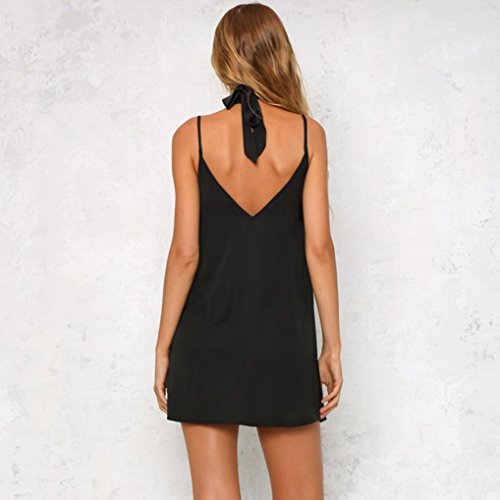 Rcool Frauen V-Ausschnitt Applikationen Rose Bedrucktes Kleid Ärmelloses Armband Camisole Swing Dress Schwarz