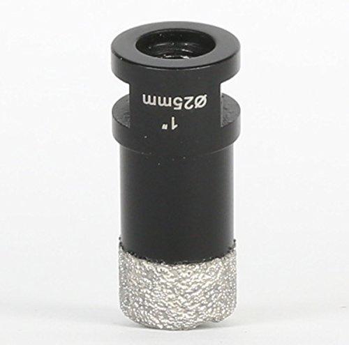 Amboss 25 mm Diamant Bohrkrone M14 - BLACK EDITION für Winkelschleifer -Feinsteinzeug, harte Fliesen, Granit/Die ideale Trockenbohrkrone