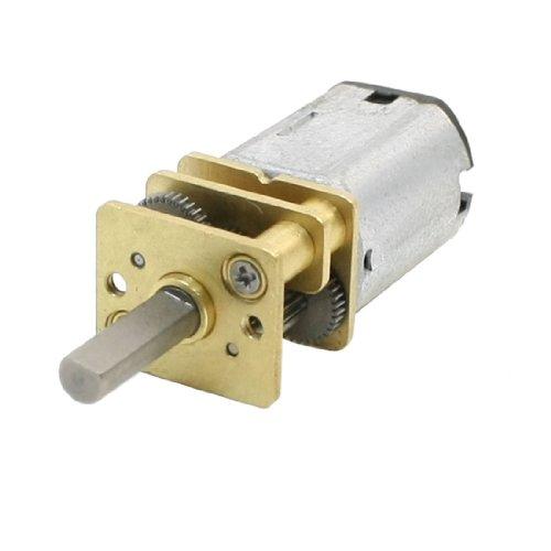 Aexit Mit DC3 V 50RPM 3 mm Dia Shaft Geschwindigkeit reduzierende DC Geared Motor