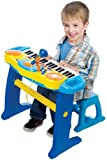 BRUIN LIGHT UP KEYBOARD WITH STOOL - BLUE