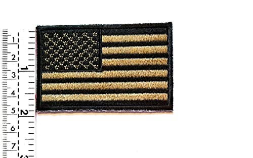 9594aa91be4a9 USA US American Flag Embroidered Patch Vest/Jacket Biker Patch Motorcycle  Rider Biker Tattoo Jacket
