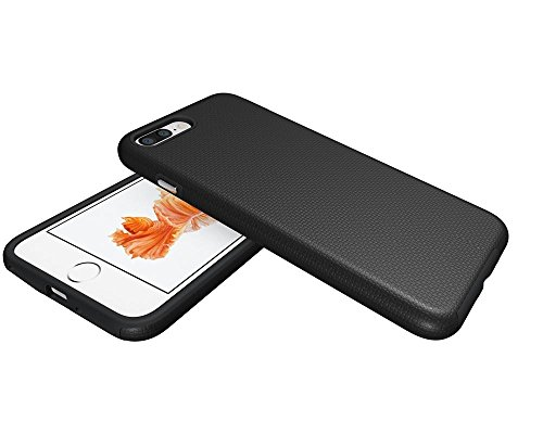 Pour Iphone 7 Plus Coque,Anti Frapper Case Mode Silicone Case de Retour Couverture Souple tpu Housse Shell Pour Apple iphone 7 Plus -Vert Noir