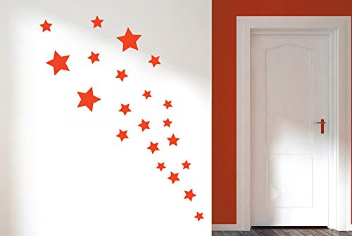 stars-wall-stickers-and-art-decals-dark-red