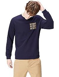 Amazon-Marke: find. Herren Sweatshirt mit Logo-Print