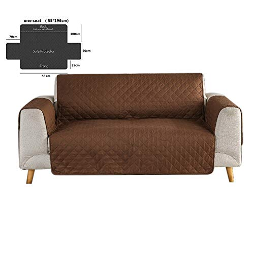 NAttnJf Moderne Einzel- / Doppel- / Dreisitzer-Schonbezug-Sofa-Möbel-Couch-Abdeckungs-Auflage Kaffee 3 (Couch Pet-abdeckung)