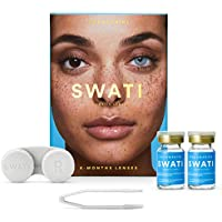 SWATI Coloured Lenses with Lens Case for Men and Women (6 Months)