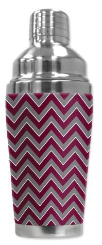 mugzie® Marke 473 ml Cocktail Shaker mit isolierter Neoprenanzug Cover - A & M Chevron