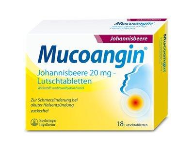 Preisvergleich Produktbild Mucoangin Lutschtablette Johannisbeere (18 ST)