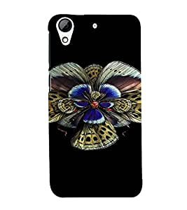 PrintVisa Colorful Butterfly Design 3D Hard Polycarbonate Designer Back Case Cover for HTC Desire 626