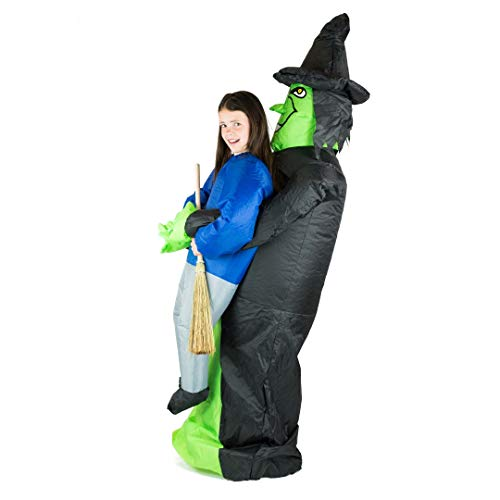 Bodysocks® Aufblasbares Hexe Kostüm für Kinder