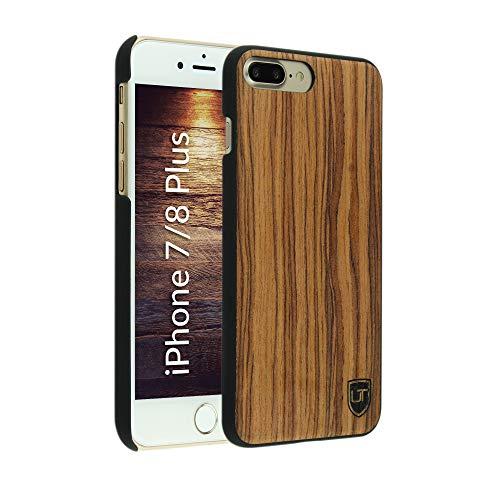 UTECTION Funda Cover Madera iPhone 7 Plus / 8 Plus