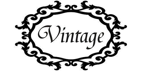 Möbeltattoo - Vintage mit Rahmen Shabby Chic Style -