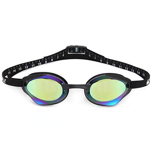 YC Schwimmbrille Anti Fog Crystal Clear Vision mit UV-Schutz Kein Durchsickern Leicht einstellbar Komfortabel für Erwachsene Männer Frauen,Green