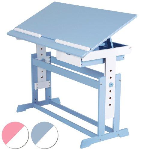 Kinderschreibtisch Schülerschreibtisch 109x55cm höhenverstellbar (Farbwahl)