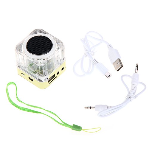 Andoer Mini Digital Altoparlante Portatile di Musica MP3/4 Player TF USB Disk FM Radio con Antenna Telescopica e Uscita Cuffie Funzioni verde