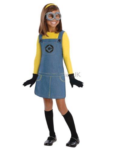 Despicable Me Girl Kostüm Kinder, klassisch, Minion-Motiv, Gr. S Alter von 3-4 Jahren 3'20.32 cm, Höhe - 4'0.00 (Despicable Kostüme Girl Me)