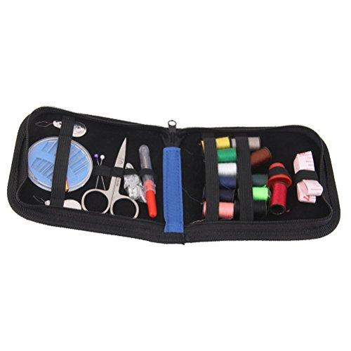 Pixnor Nähnadeln Kit Portable Haushalt Sewing Kit Thread Scheren Set mit blauen Zipptasche Reisen und Notfälle