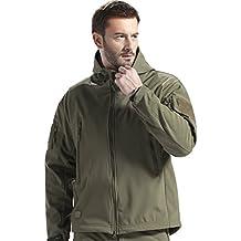 Free Soldier, giacca da uomo con cappuccio, militare, per caccia, strategica, in softshell, Uomo, Army Green, XXL