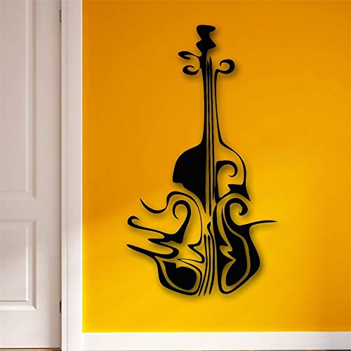fkleber Musik Abstrakt Cello Musikinstrument gelb 29x57cm ()