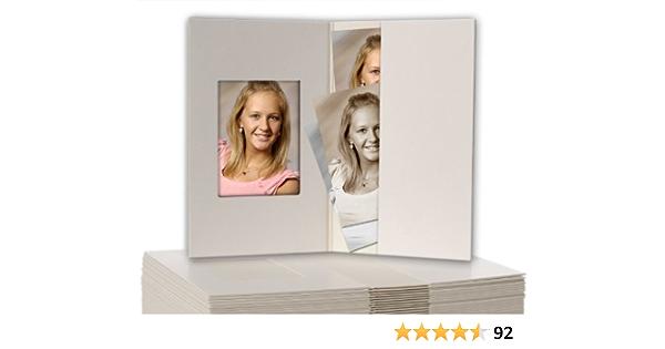 100 Stück Passbildmappen Weiss Matt Für Passfotos 3 5 X 4 5 Cm Bürobedarf Schreibwaren