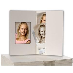 100-Stck-Passbildmappen-weiss-matt-fr-Passfotos-35-x-45-cm