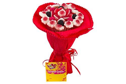Fruchtgummi Blumenstrauß aus verschiedenen Fruchtgummi-Sorten, Genurtstag, Valentinstag, Muttertag, Geschenk, 140g