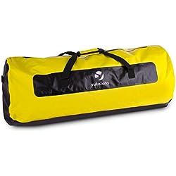 yukatana Quintoni 120 • Seesack • Packsack • Sporttasche • Trekking-Rucksack • Travel-Reiserucksack • 120 Liter Volumen • wasserdicht • geruchsdicht • längs verlaufender Reißverschluss • Tragegurte • Einhand-Henkel • verstärkter Boden • schwarz-gelb