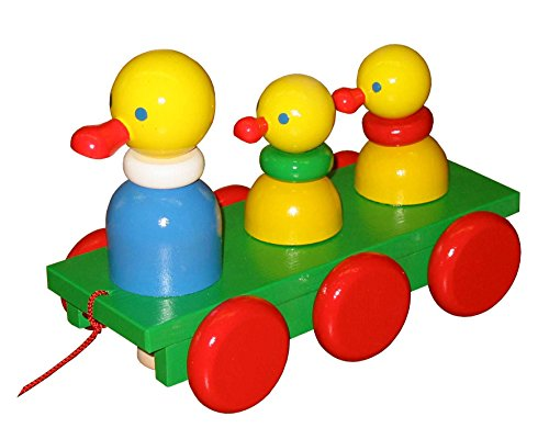 ABA Pull-Along Three Duckling Cart with Motion (Coloured)