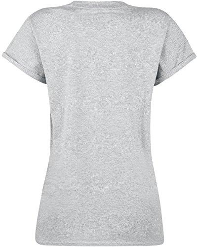 Pusheen Super! Girl-Shirt Hellgrau Meliert Hellgrau Meliert