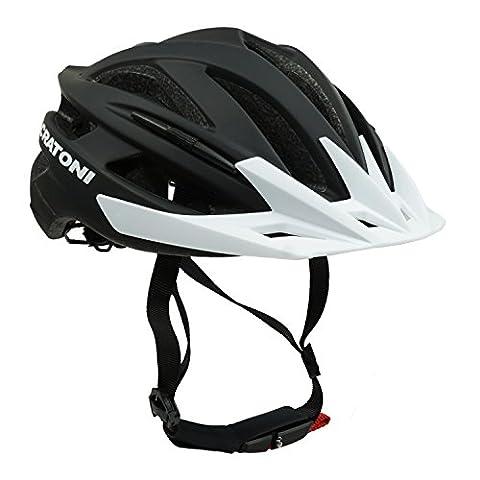 Fahrradhelm Mountainbike Helm Radhelm MTB-Helm Cratoni Agravic, black matt - Visier weiß, Gr. L/XL (58-62 (Fahrradhelme Günstig)