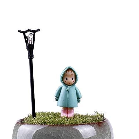 5Pcs / Set Mini fille fée Jardin Figurines miniature Résine Artisanat Ornement Gnomes Moss Terrariums Accueil