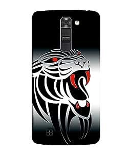 LG K10, LG K10 Dual SIM, LG K10 K420N K430DS K430DSF K430DSY Back Cover Jungle Tiger Icon Design From FUSON
