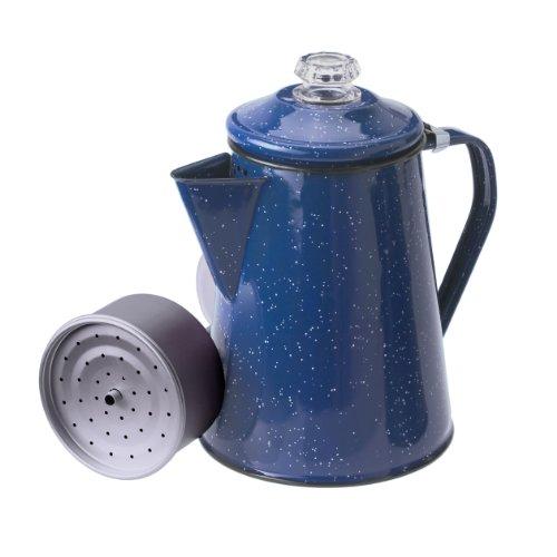 GSI Außen emailliert Percolator Kaffeekanne, blau, 12 Cup