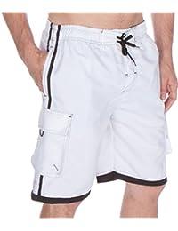 Sakkas Hommes Boardshort / Maillot de Bain Planche Patins Rayures Contrastées