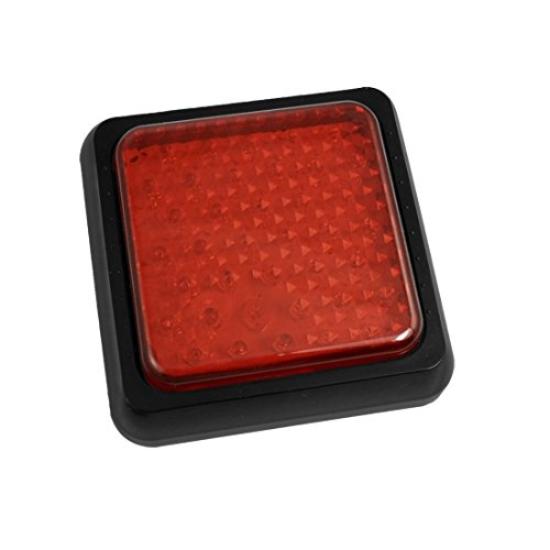 DealMux Auto-LKW-38 LED Red Square Shell dritte Station Bremslichtlampendraht (Shell Lkw)