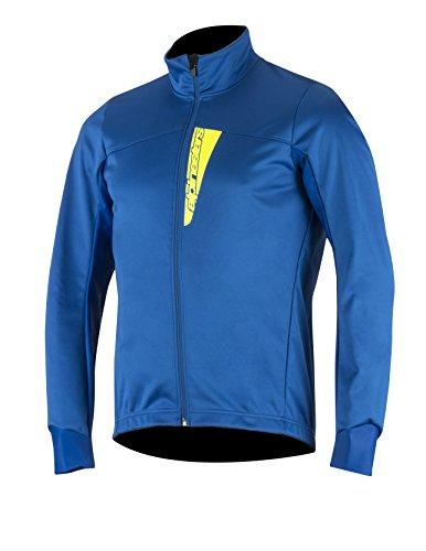 Alpinestars Men's Cruise Shell Jacket, Royal Blue/Yellow Fluo, Small
