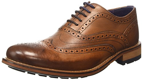 Ted Baker Guri 8, Scarpe Stringate Basse Brogue Uomo Marrone (Tan)