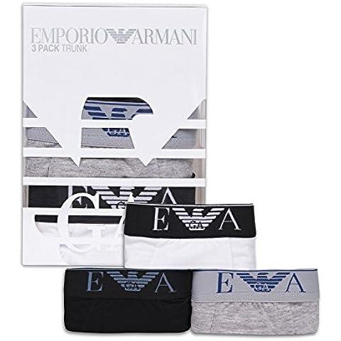 Emporio Armani Pack de 3 Boxers Ajustados Para Hombre