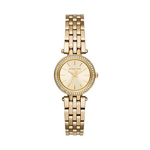 Michael Kors Damen Analog Quarz Uhr mit Weißgold Armband MK3295