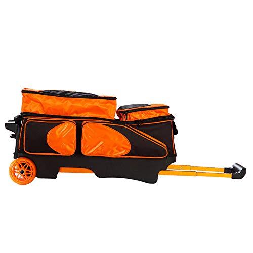 KXDLR 3 Ball in Linie Tote Rollen-Rollen-Bowling-Tasche,Orange