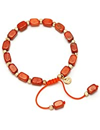 Lola Rose Starla Bracelet Fire Orange Magnesite