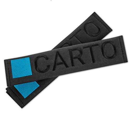 Preisvergleich Produktbild CARTO 2er-Set Gurtpolster für gut gepolsterte Sicherheitsgurte, schwarz - mit 2 Jahre Geld-zurück-Garantie - Gurtschoner/Schulterpolster / Sicherheitsgurt- Polster