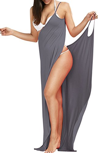 Women's Rolansica Multifunctional Long Dress Summer Beach Wrap Dress Robe Towel Spa Swimming (Lange Spa Robe)