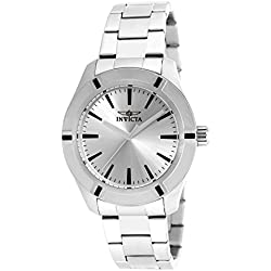 Invicta Men's Quartz Watch with Analogue Display and Silver Stainless Steel Bracelet