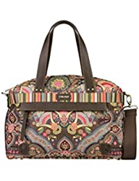 Oilily Carry All M/Mittel Handtasche Winter Ovation in Indigo Biscuit oder Coffee Farbe:Coffee