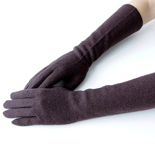 GSG Womens Warm Knitted Wool Gloves Arm Warmer Gloves Touch Screen Driving Gloves Long or Mid Length
